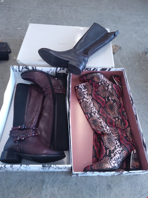 Lot 361 3 PAIRS OF BOOTS