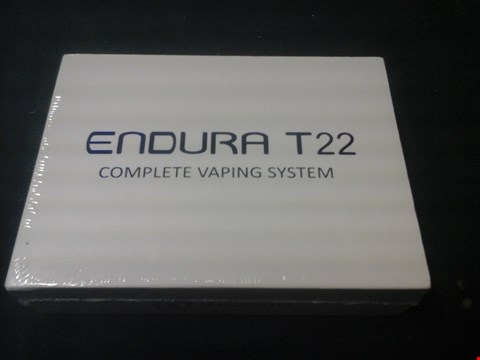 Lot 1084 BOXED ENDURA T22 COMPLETE VAPING SYSTEM