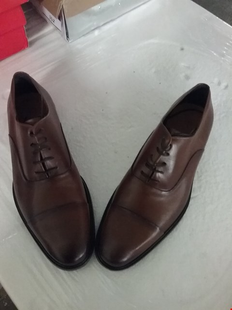 Lot 157 BOXED ORTIZ & REED LEATHER SHOES - BROWN, SIZE 10.5 UK