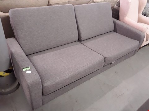 Lot 84 QUALITY BRITISH DESIGNER GREY FABRIC FOLD OUT SOFABED