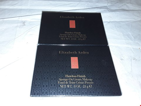 Lot 2148 LOT OF APPROXIMATELY 6 BRAND NEW ELIZABETH ARDEN FLAWLESS FINISH SPONGE-ON CREAM MAKEUP COCOA 23G 49  RRP £120