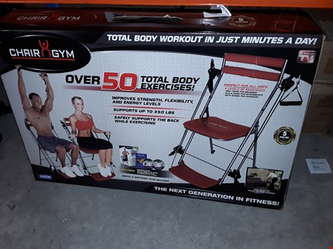 Lot 956 UNBOXED CHAIR GYM EXERCISE MACHINE RED