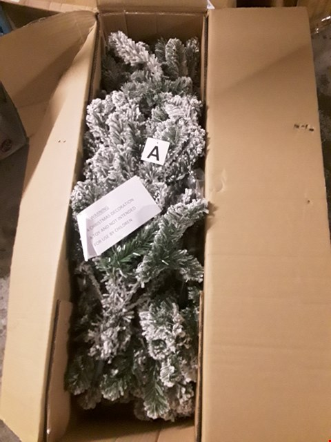 Lot 5092 BRAND NEW BOXED 6FT FLOCKED EMPEROR TREE  RRP £100.00