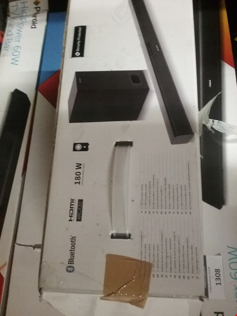 Lot 1307 SHARP 2.1 SOUNDBAR HOME THEATRE SYSTEM