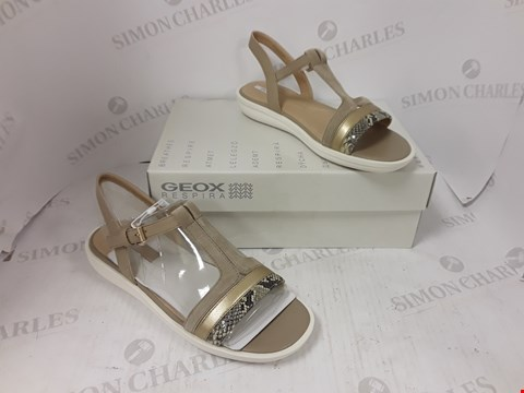 Lot 889 BOXED PAIR OF GEOX RESPIRA SANDALS SIZE 39