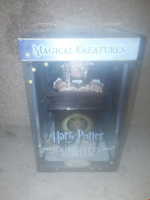 Lot 672 BOXED BRAND NEW HARRY POTTER MAGICAL CREATURES NO.10 GRINGOTS GOBLIN