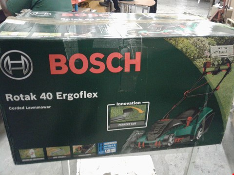 Lot 9513 BOSCH ROTAK 40 ERGOFLEX CORDED LAWNMOWER