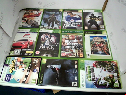 Lot 3070 LOT OF 11 ASSORTED XBOX & XBOX 360 GAMES TO INCLUDE: GRAND THEFT AUTO IV, FORZA MOTORSPORT 4, GOLDENEYE RELOADED