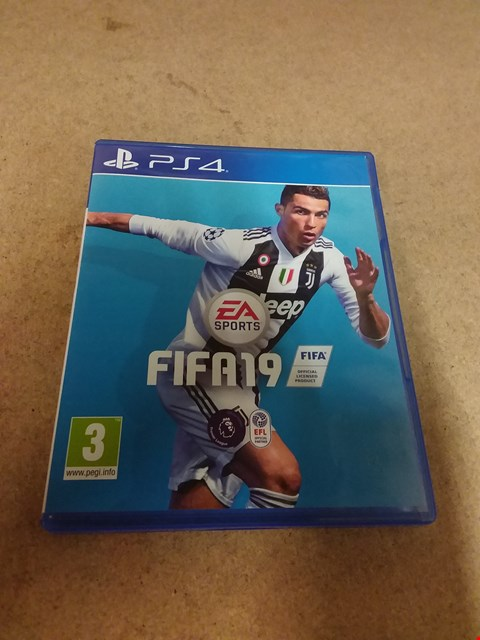 Lot 8229 FIFA 19 STANDARD EDITION FOR PS4