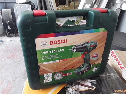 Lot 17047 BOSCH PSR 1800 LI-2 CORDLESS DRILL DRIVER WITH CASE