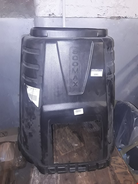 Lot 1081 PLASTIC COMPOST BIN, NO TOP OR  DOOR