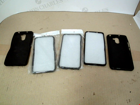 Lot 13348 LOT OF APRROXIMATELY 5 ASSORTED DESIGNER BLACK MOBILE PHONE CASES