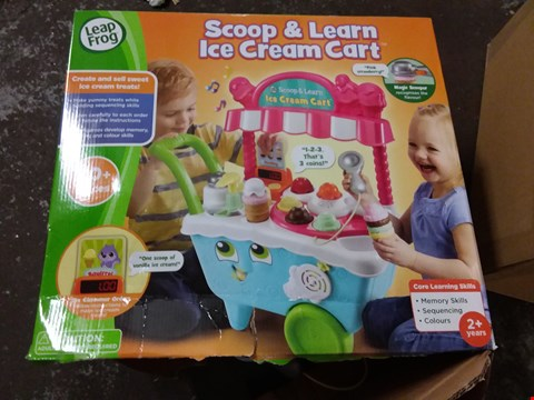 Lot 25 LEAP FROG SCOOP N LEARN ICE CREAM CART