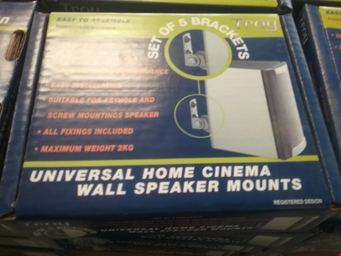 Lot 2046 4 × BOXES OF SET OF 5 BRACKETS UNIVERSAL HOME CINEMA WALL SPEAKER MOUNTS