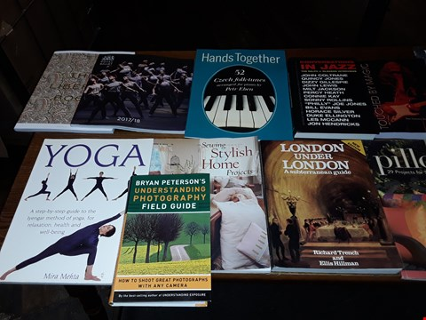 Lot 152 LOT OF APPROXIMATELY 13 ASSORTED BOOKS TO INCLUDE ROYAL BALLET, BELOW STAIRS 400 YEARS OF SERVANTS PORTRAITS AND TOUCHED BY MAGIC THE TOMMY BOLIN STORY ECT