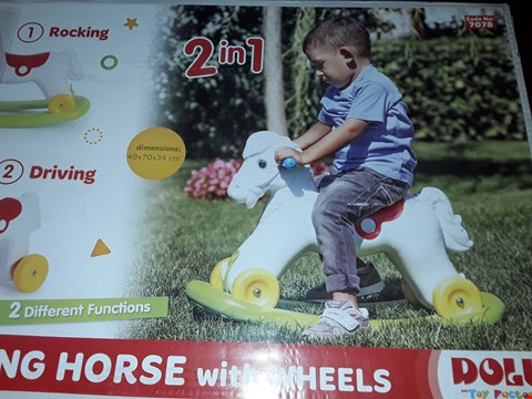Lot 7764 BOXED DOLU ROCKING HORSE  RRP £24.99