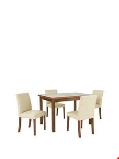 Lot 388 BOXED EVELYN WALNUT-EFFECT EXTENDING DINING TABLE (1 BOX)  RRP £269