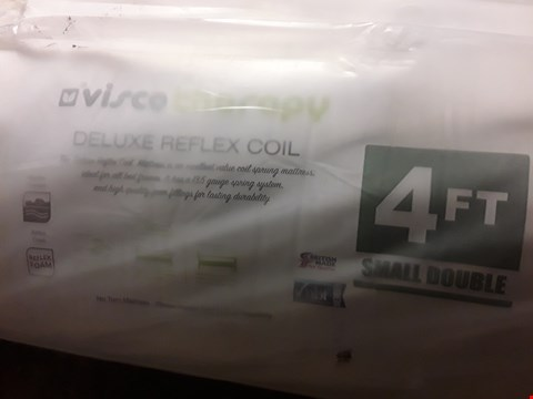Lot 1078 BSGGED & ROLLED 4' SMALL DOUBLE VISVI DELUXE TEFLEX COIL MATTRESS