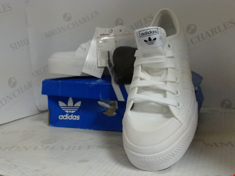 Lot 16011 BOXED PAIR OF DESIGNER ADIDAS TRAINERS  - UK SIZE 5.5