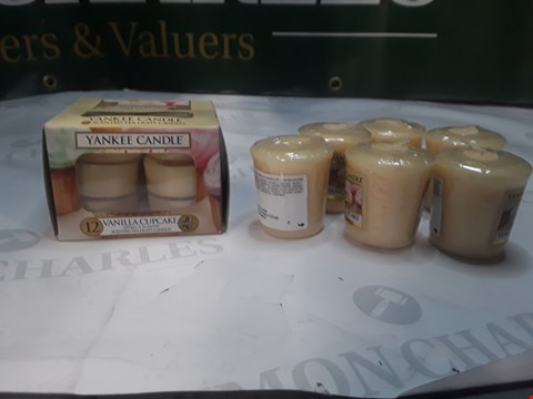 Lot 1252 LOT OF 18 YANKEE CANDLES VANILLA CUPCAKE SCENTED