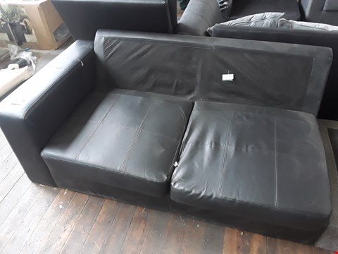 Lot 2023 BLACK FAUX LEATHER SOFA SECTION