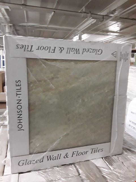 Lot 7106 PALLET OF 32 BOXES OF BRAND NEW IMITATION OYSTER GLAZED TILES