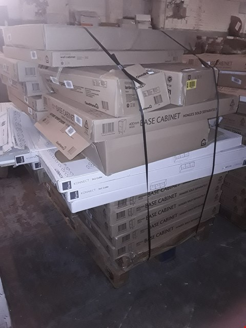Lot 9224 PALLET OF APPROXIMATELY 21 ASSORTED FLAT PACK KITCHEN UNITS & FITTINGS  RRP £608.00