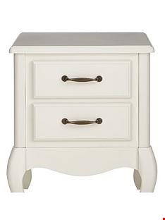 Lot 162 OLIVIA 2 DRAWER BEDSIDE IN WHITE RRP £159