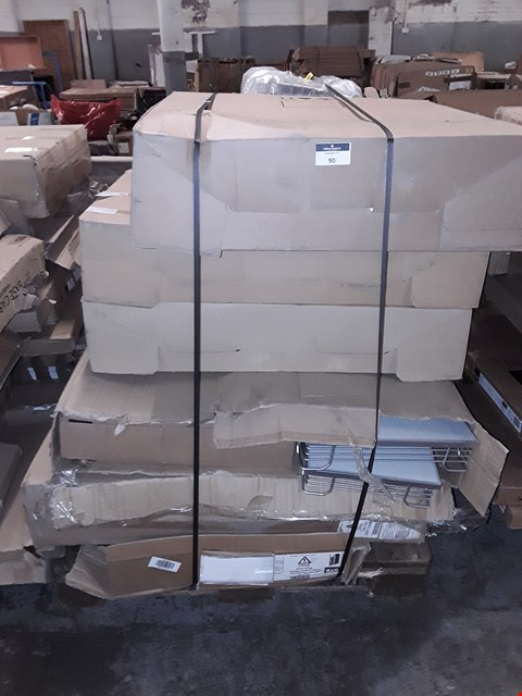 Lot 90 PALLET OF ASSORTED FLAT PACK KITCHEN ITEMS  RRP £1812