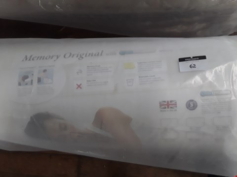 """Lot 62 QUALITY BAGGED & ROLLED 2'6"""" SMALL SINGLE RELYON MEMORY ORIGIONAL MATTRESS"""