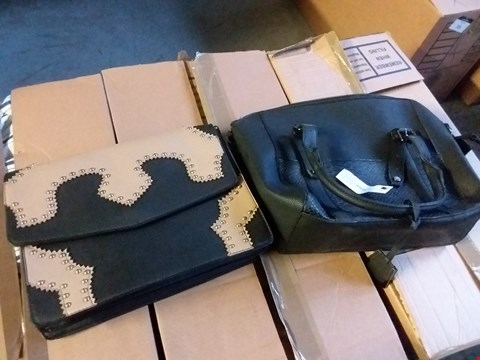 Lot 361 BOX OF APPROXIMATELY 10 ASSORTED LADIES BAGS