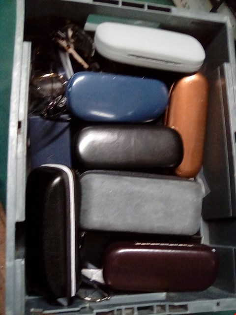 Lot 1056 A BOX OF ASSORTED GLASSES AND SUNGLASSES