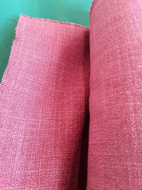 Lot 2043 ROLL OF HELSINKI CRANBERRY FIRE RETARDANT MATERIAL APPROXIMATELY 140cm × 6M