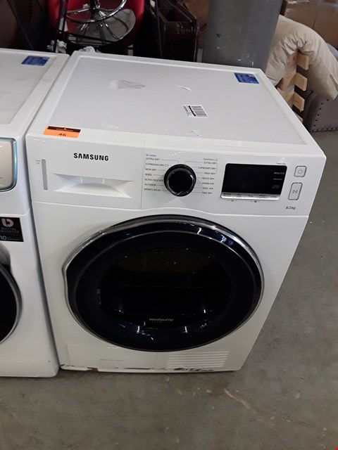 Lot 46 SAMSUNG DV8OK6010CW IN WHITE 8KG HEAT PUMP CONDENSER DRYER RRP £719.00