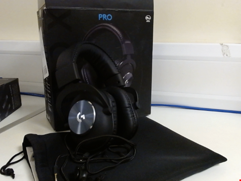 Lot 15154 LOGITECH G PRO X GAMING HEADSET (2ND GENERATION) WITH BLUE VO!CE, DTS HEADPHONE:X 7.1 AND 50 MM PRO-G DRIVERS (FOR PC, PS4, SWITCH, XBOX ONE, VR) - BLACK