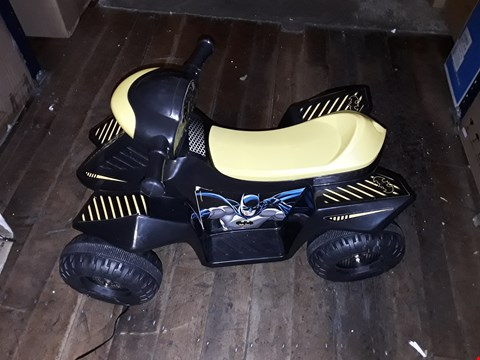 Lot 1565 BATMAN 6V RIDE ON MINI QUAD RRP £150