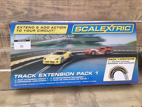 Lot 21 SCALEXTRIC TRACK EXTENSION PACK 1