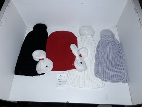 Lot 1041 BOX OF APPROXIMATELY 70 ASSORTED BRAND NEW KNIT HATS AND BOBBLE HATS