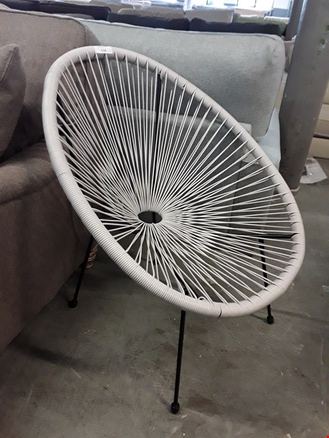 Lot 114 DESIGNER RETRO STYLE SUN FLOWER CHAIR