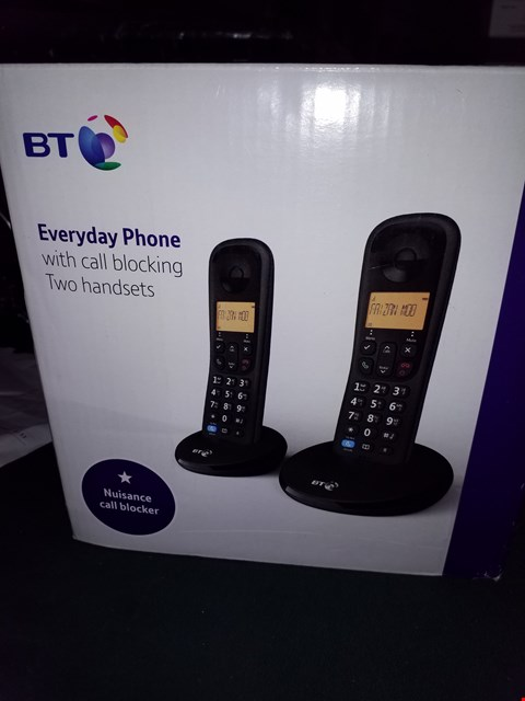 Lot 18057 GRADE 1 BT EVERYDAY CORDLESS TWIN HANDSET HOME PHONE WITH CALL BLOCKER RRP £44.99