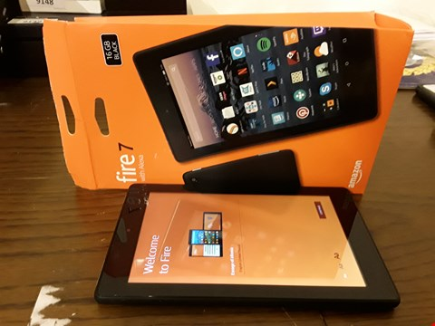 Lot 9179 BOXED AMAZON FIRE 7 WITH ALEXIA 16GB TABLET IN BLACK