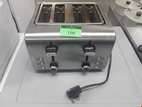 Lot 100 FOUR SLICE TOASTER
