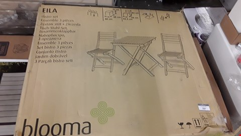 Lot 220 BLOOMA EILA WOODEN BISTRO SET RRP £55