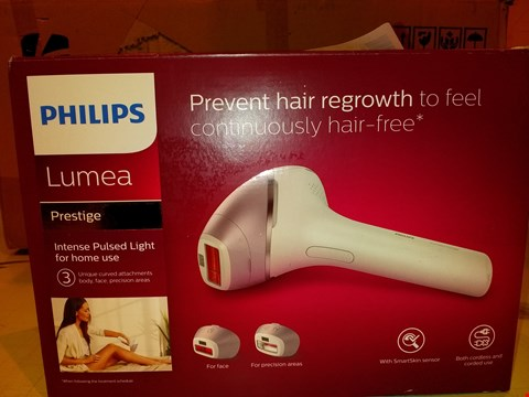Lot 8355 PHILIPS LUMEA PRESTIGE IPL CORDLESS HAIR REMOVAL DEVICE