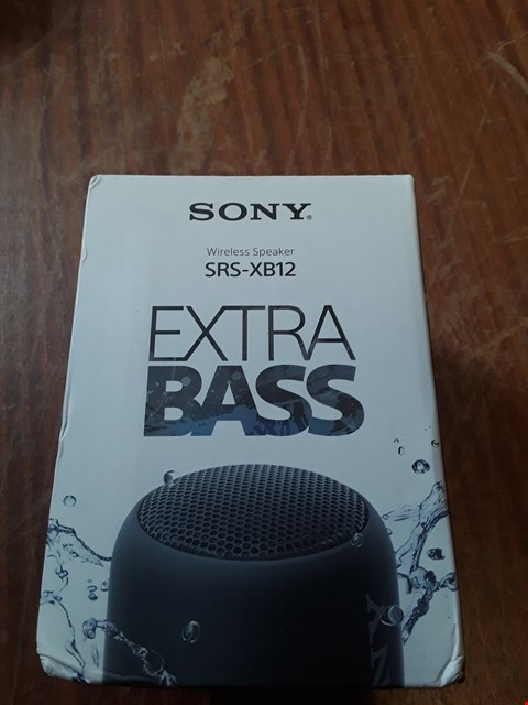 Lot 59 BOXED SONY SRS-XB12 WIRELESS SPEAKER