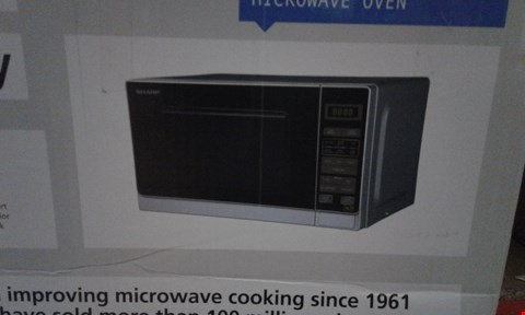 Lot 2107 GRADE 1 SHARP R272SLM 800W SOLO MICROWAVE  RRP £89.99
