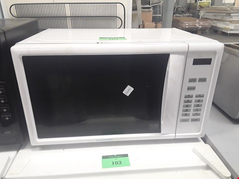 Lot 101 WHITE COOKWORKS 800W MICROWAVE