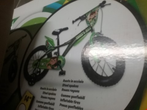 Lot 3334 BOXED GRADE 1 BEN 10 12 INCH BICYCLE  RRP £140.00