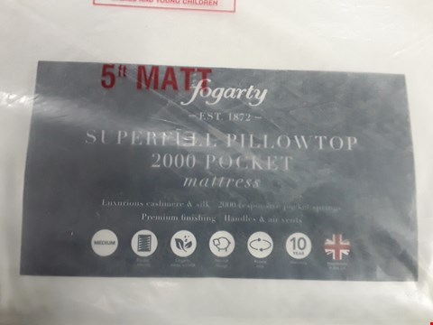 Lot 159 BAGGED FOGARTY SUPERFULL PILLOWTOP 2000 POCKET MATTRESS