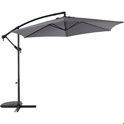 Lot 1153 BOXED 3M GREY HANGING PARASOL  RRP £74.99